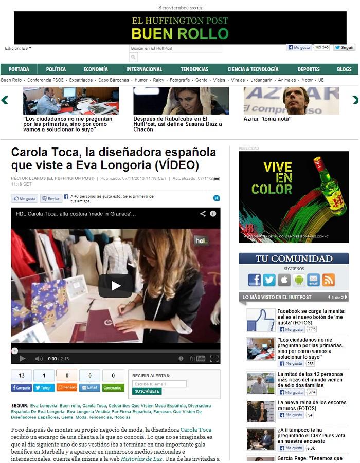 Carola Toca en el Huffington Post