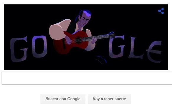 Google homenajea a Paco de Lucía en su último doodle de 2016