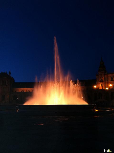 HDL Luces de la Plaza de España. Sevilla